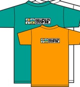 Image of Kids Who Rip Orange,Teal Green and White T-Shirt with Color Logo