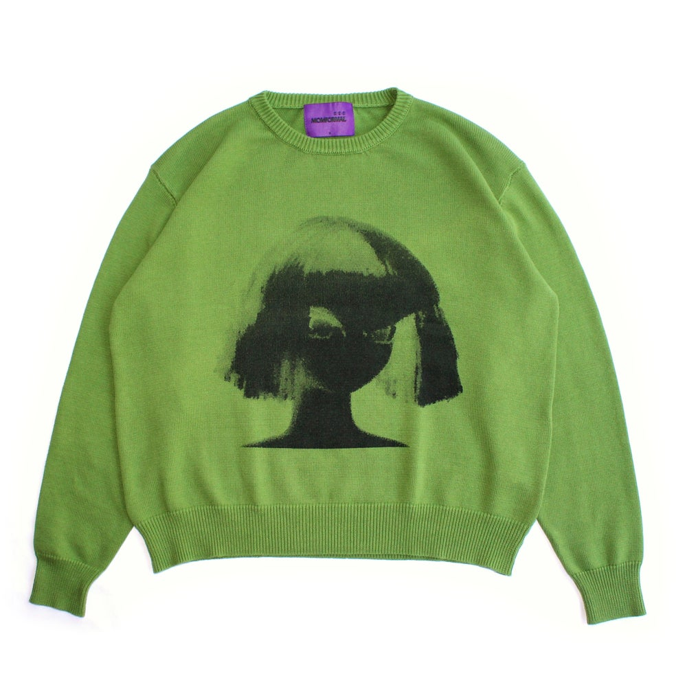 Image of track03 - knit sweater (green)