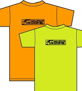 Image of Kids Who Rip Green or Orange T-Shirt w/ Black Logo