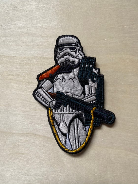 "Image of Sandtrooper 4"" tall patch -Standard and Velcro"