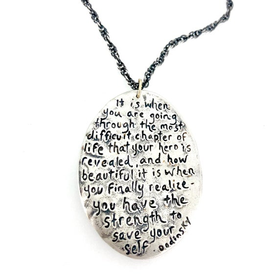 Image of Dodinsky quote necklace