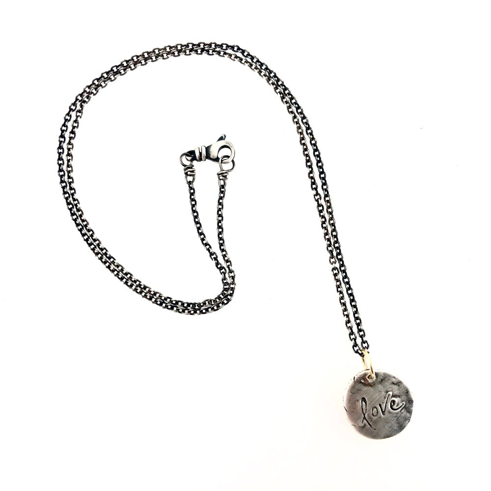 Image of love charm necklace