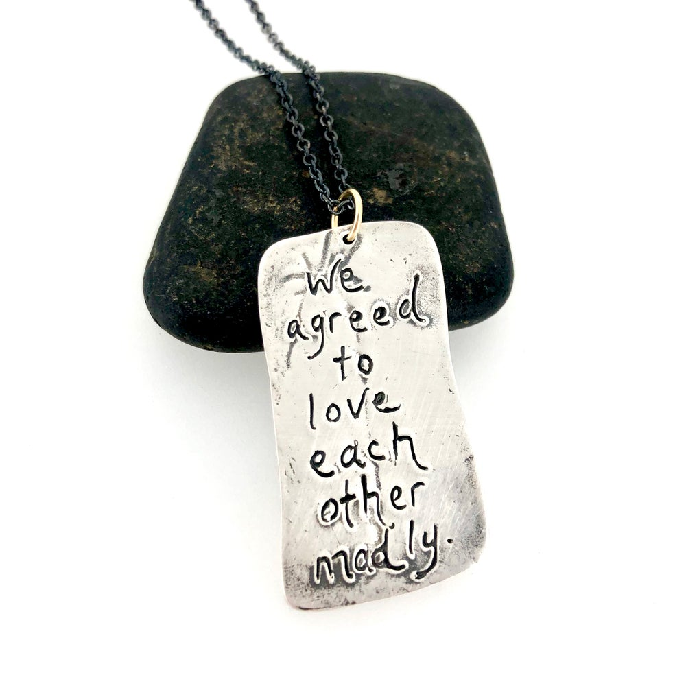 Image of Fitzgerald quote feather necklace