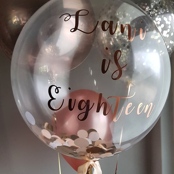 Image of Custom Confetti Balloon Bouquets
