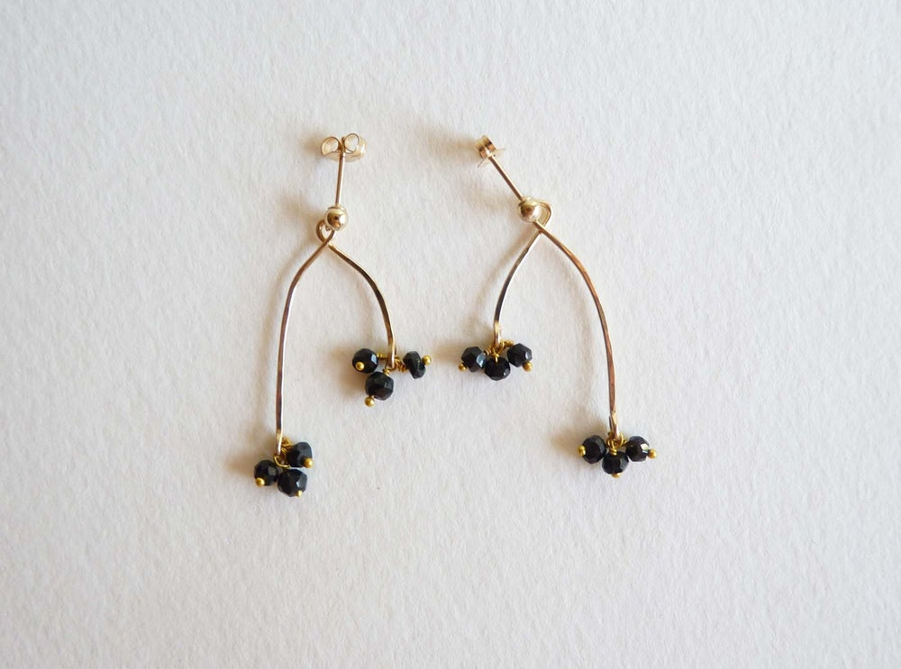 Image of Branch tourmaline earrings
