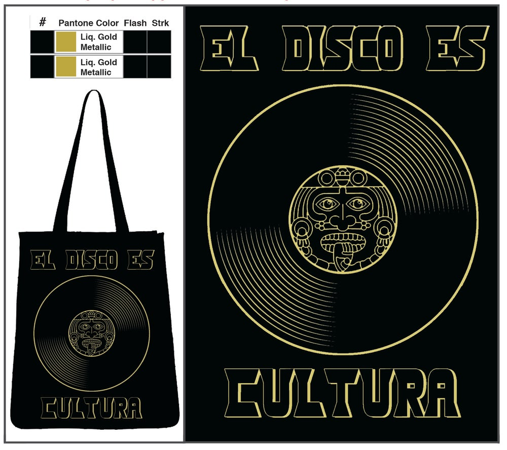 "Image of ""El Disco Es Cultura"" Canvas Tote Bolsa"