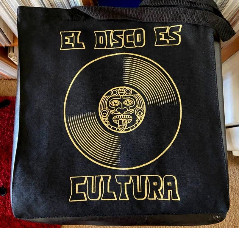 """Image of """"El Disco Es Cultura"""" Canvas Tote Bolsa"""