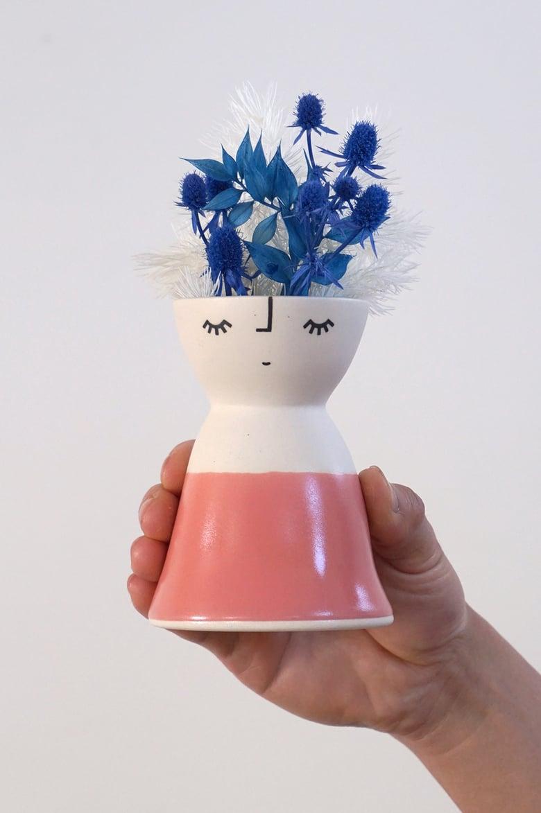 Image of Little Miss Watermelon – ceramic vase peep