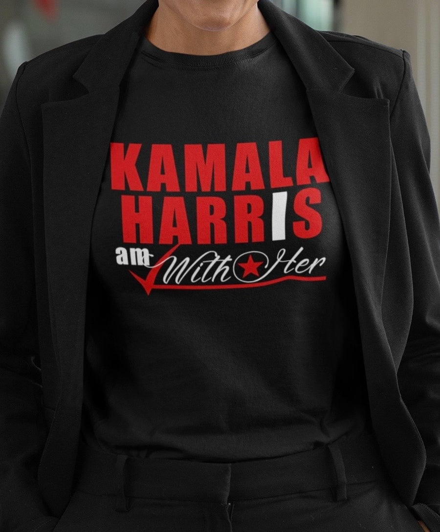 "Image of Kamala Harris ""I AM WITH HER"" RED"