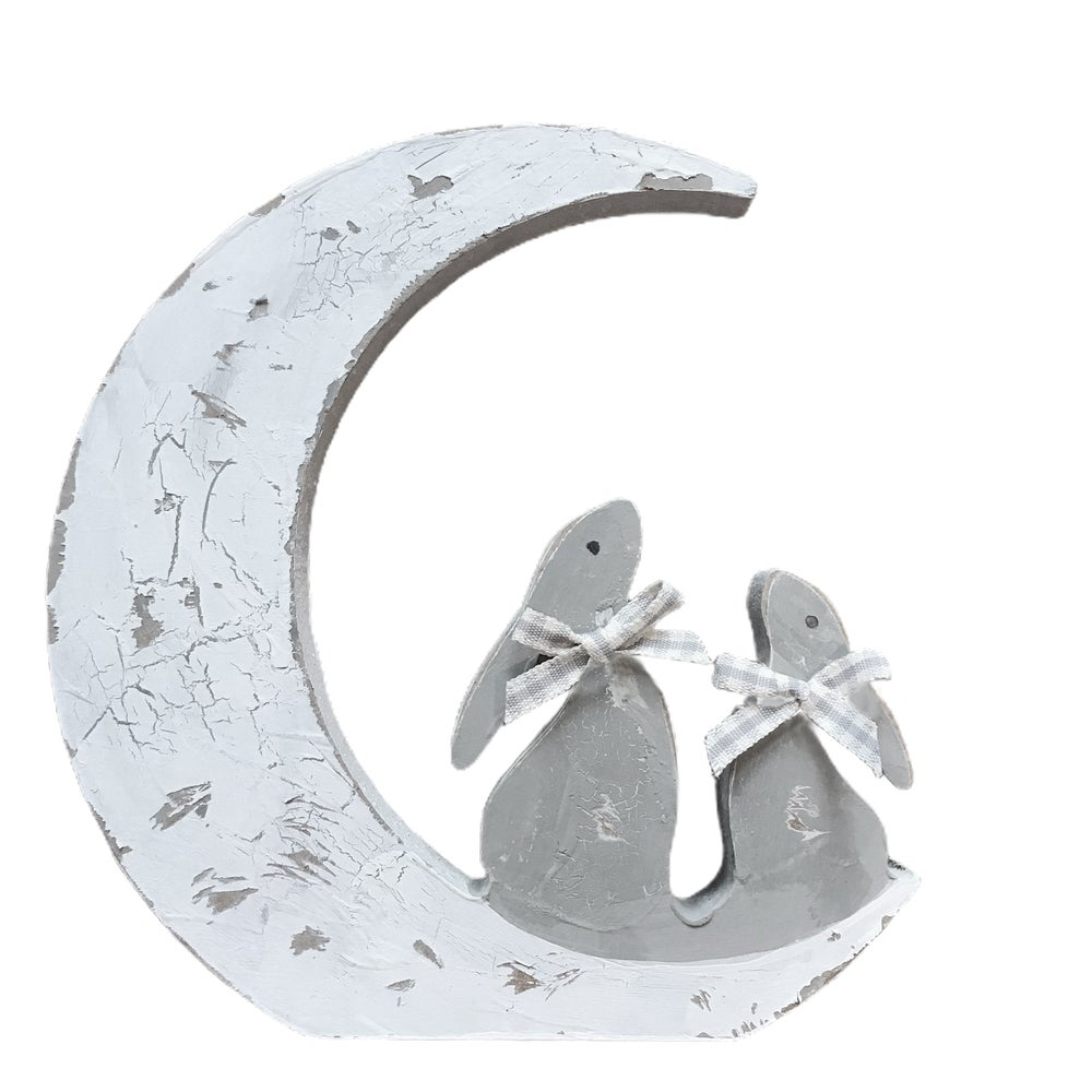 Image of Chippy Hand Painted Moon and Star Hares