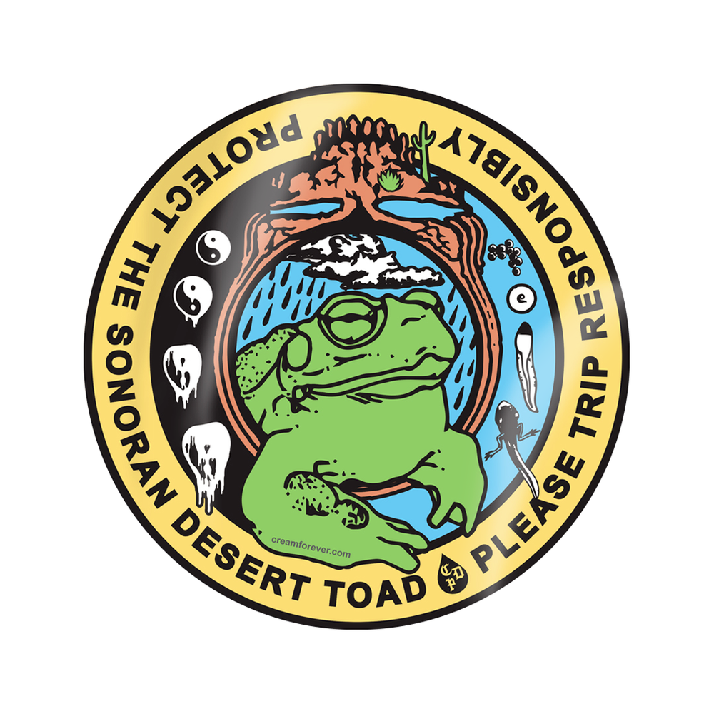 """""""PROTECT THE TOAD"""" - 4"""" x 4"""" Sticker"""