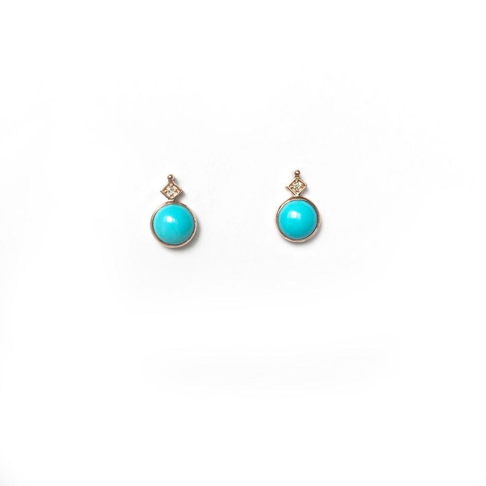 Image of Art Deco Turquoise Earring