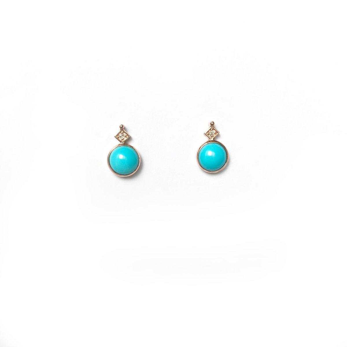 Image of Art Deco Turquoise Earring