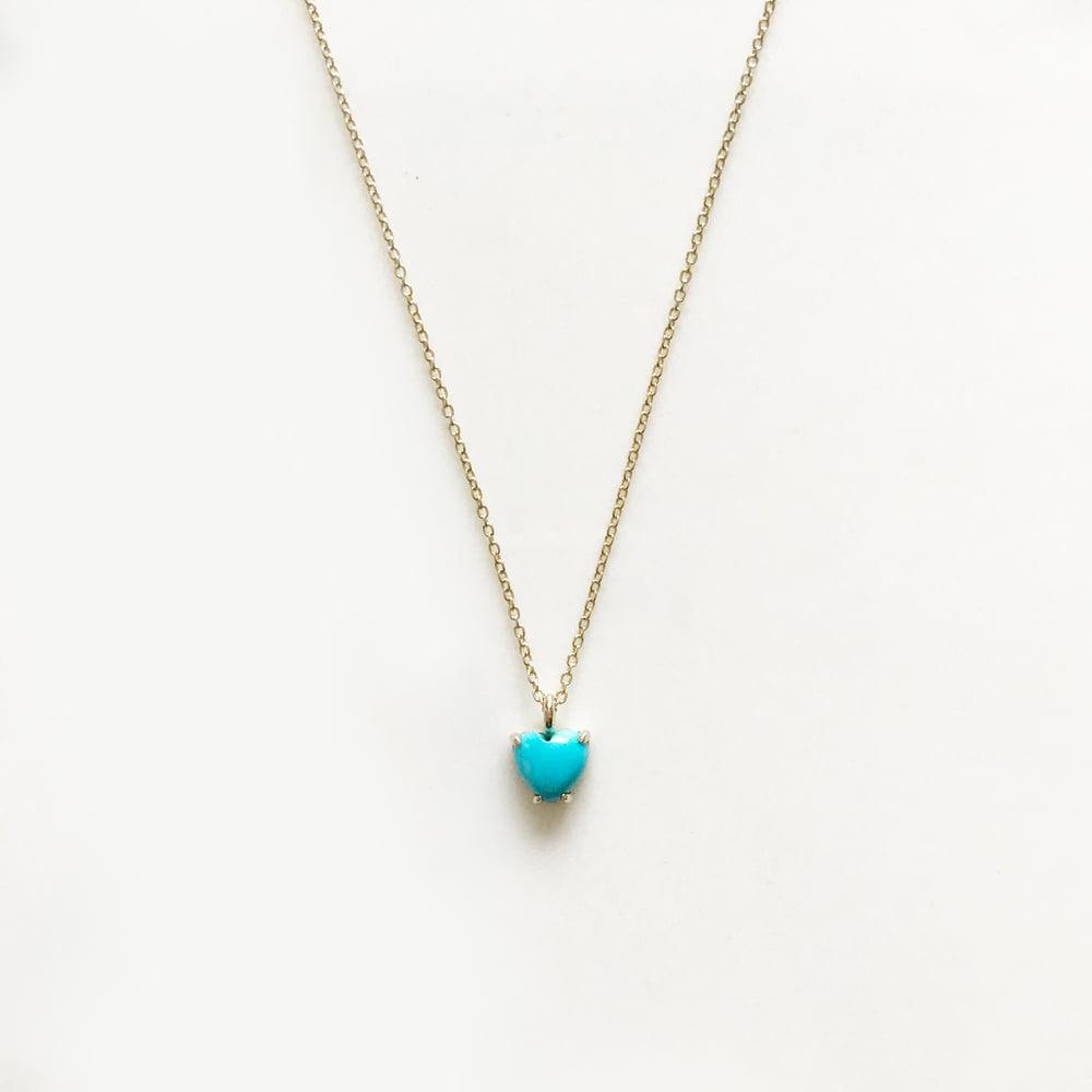 Image of Mini Sleeping Beauty Turquoise Heart Necklace