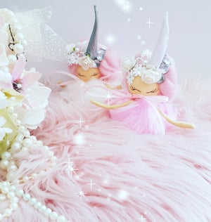 Image of Decorative Hanging Fairy Unicorn Wish Poms