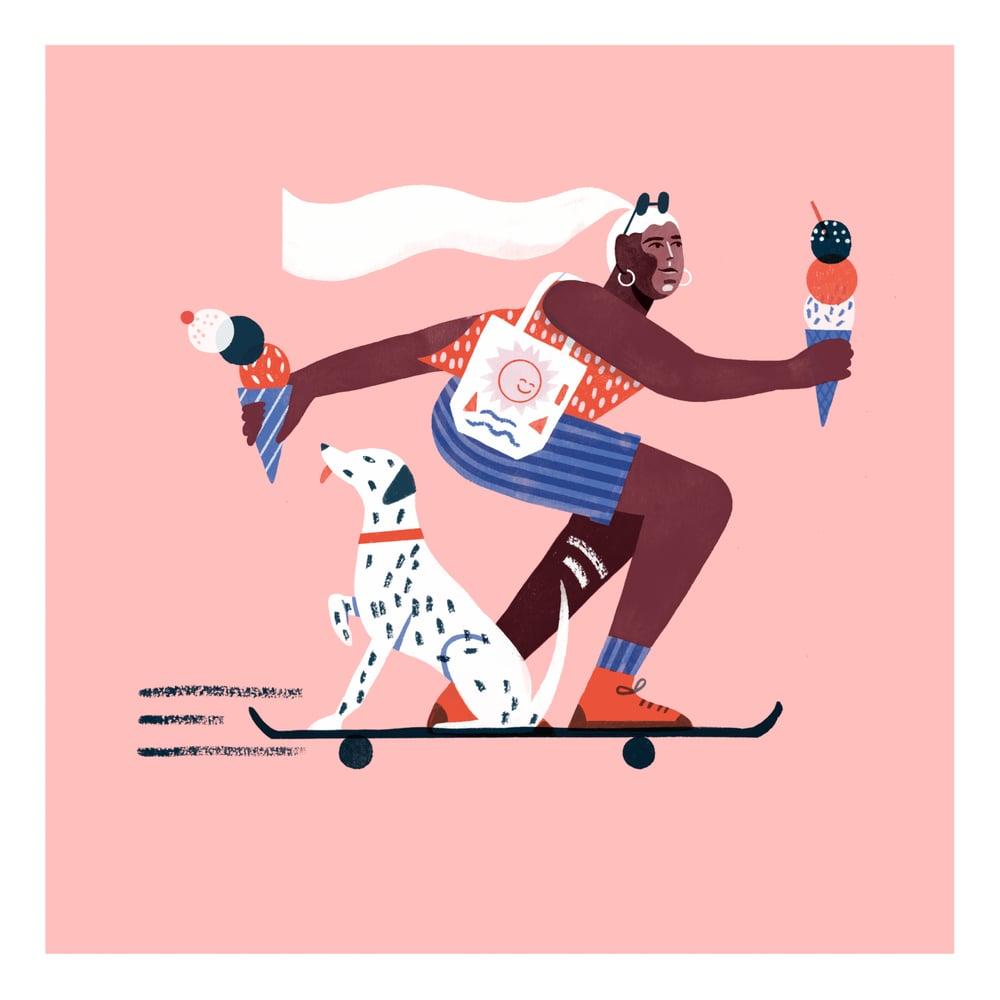 Image of Skater Girl giclée print