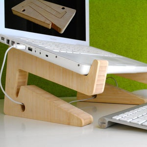 Image of laptopstand in bamboo