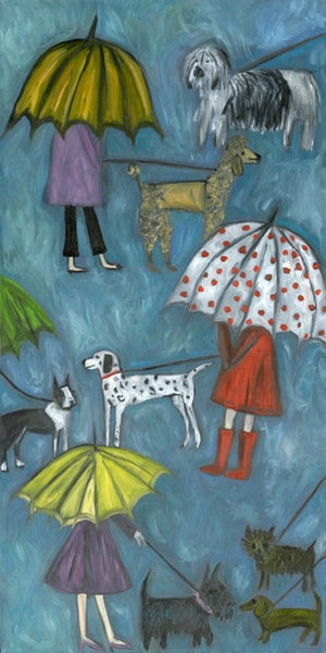 Image of Rainy day dogs. Limited edition print.