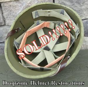 Image of WWII Repro Hawley M-1 Helmet Liner. HBT Webbing  (C)