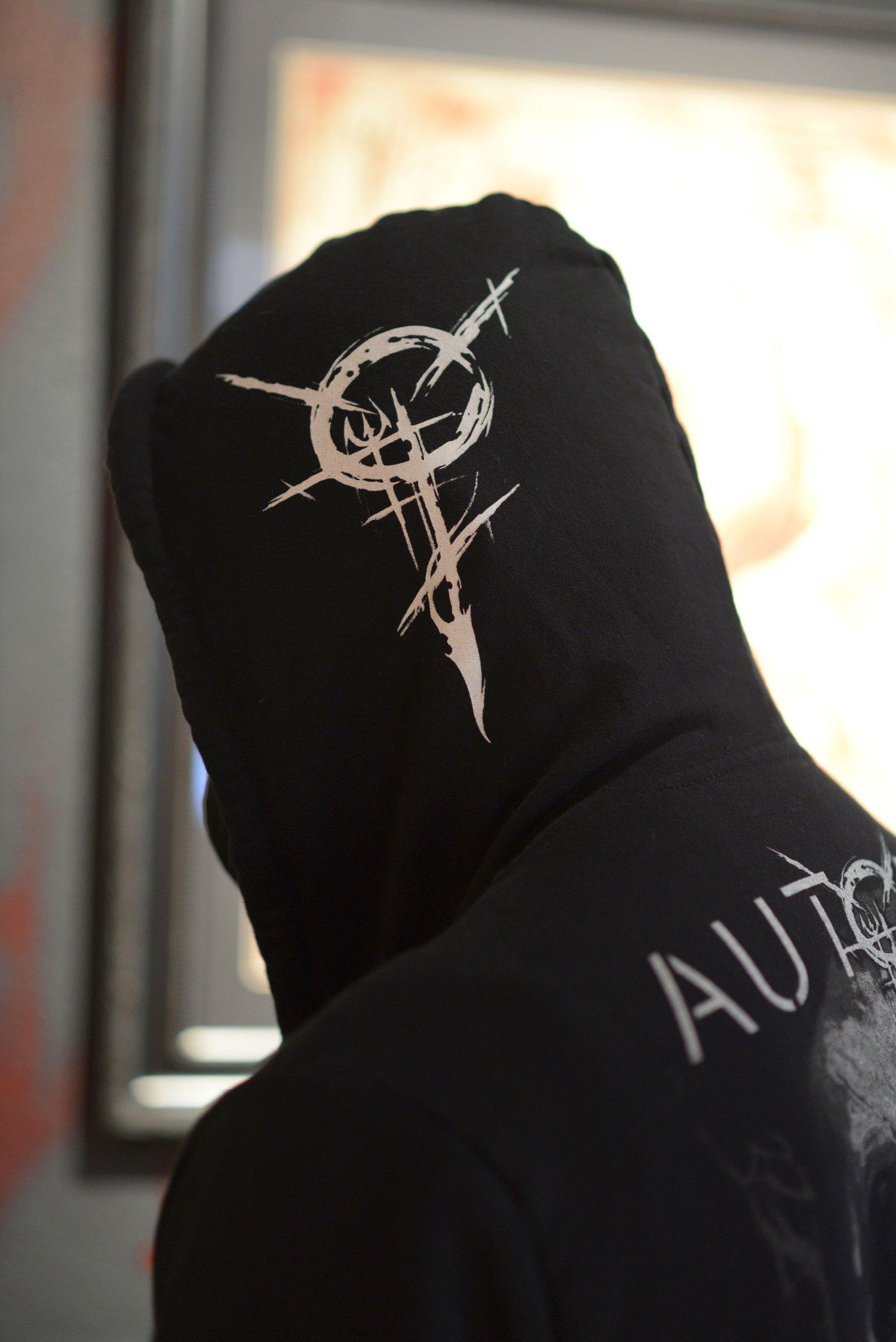 Image of Autopsy Tattoo Studio Skull hooded sweatshirt [LIMITED EDITION]