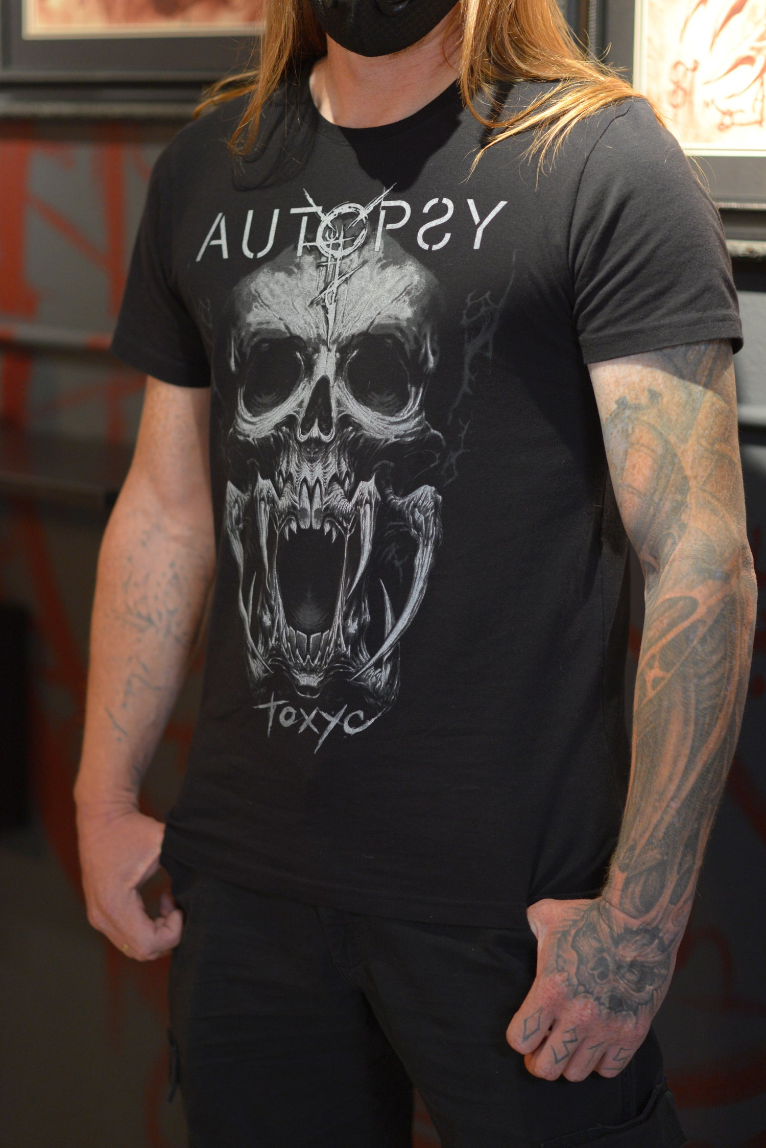 Image of Autopsy Tattoo Studio Skull T-shirt [LIMITED EDITION]