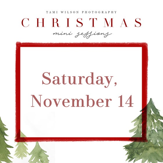Image of Christmas Mini Session - Saturday, November 14 deposit
