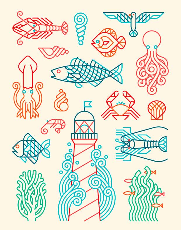 Image of Marine motifs