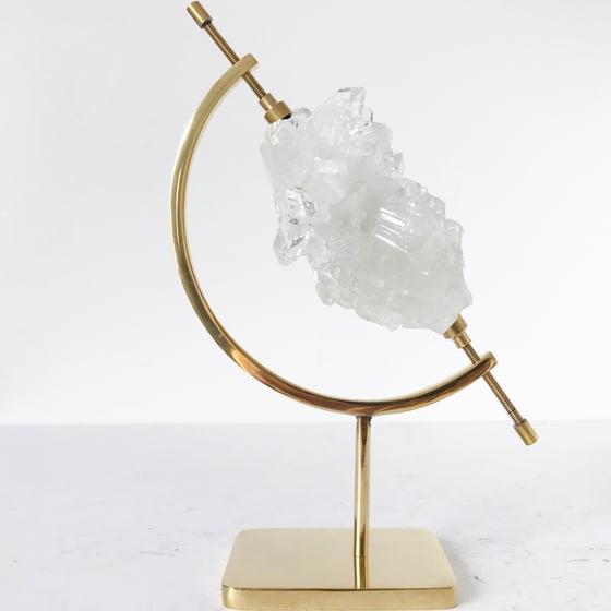 Image of Apophyllite no.80 + Brass Arc Stand