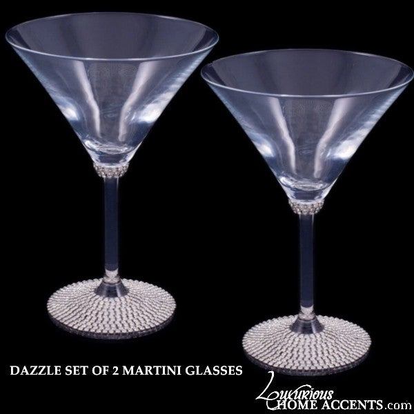 Image of Swarovski Crystal Dazzle Martini Glasses