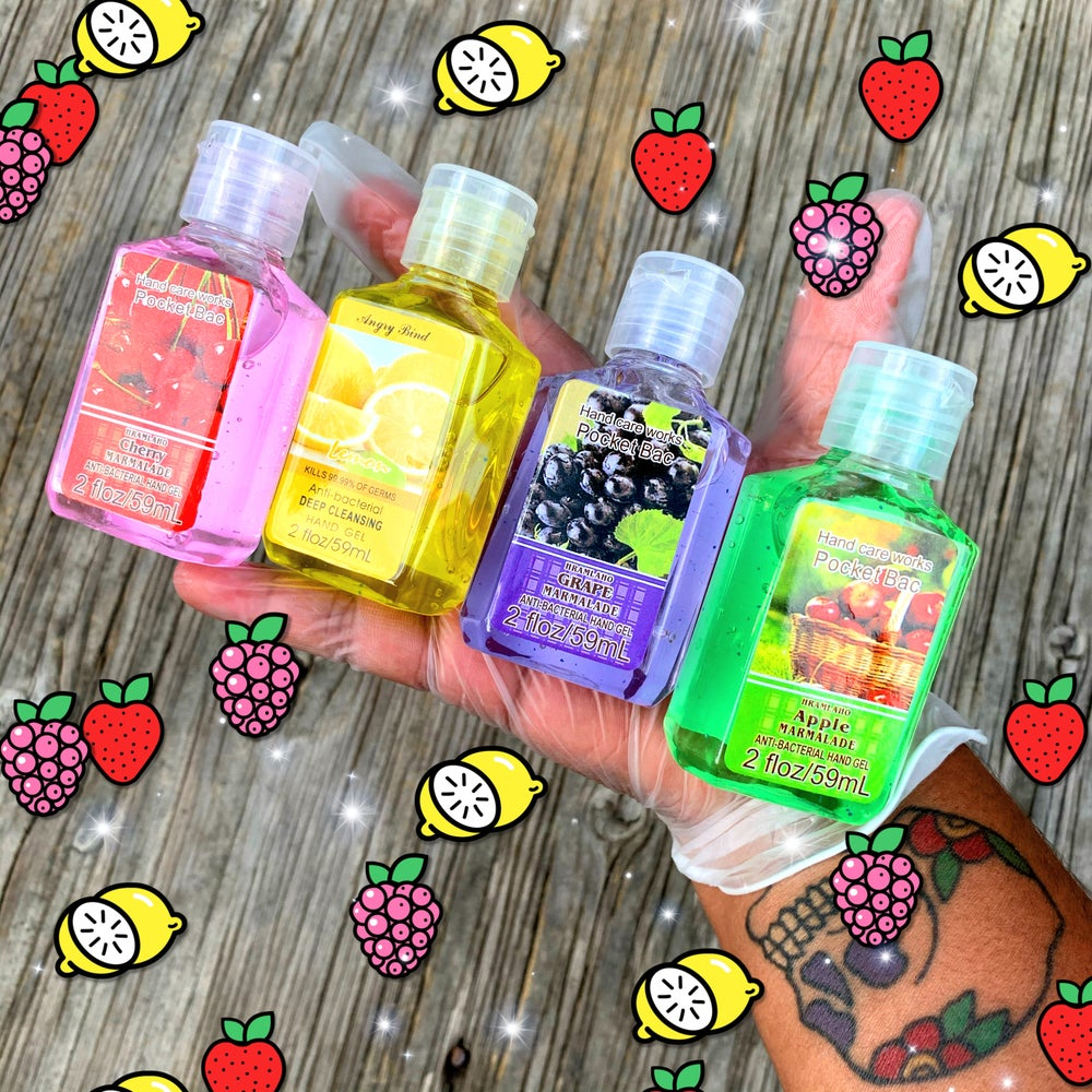 Fruity Scented Hand Sanitizer gels