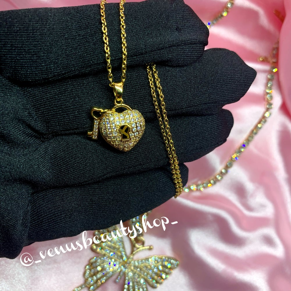 Golden Key to My Heart, locket necklace