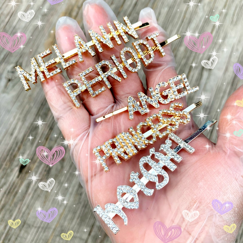 Blinged out hair pins