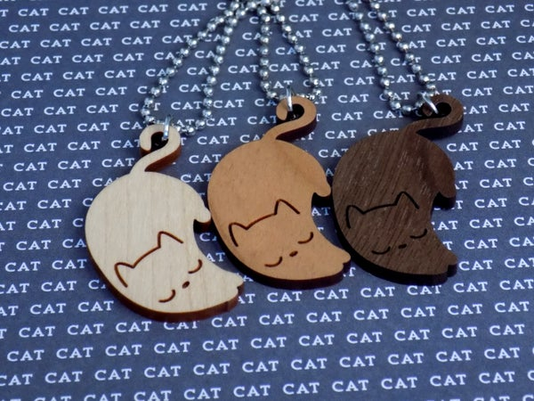 Image of Sleeping Kitty Necklace