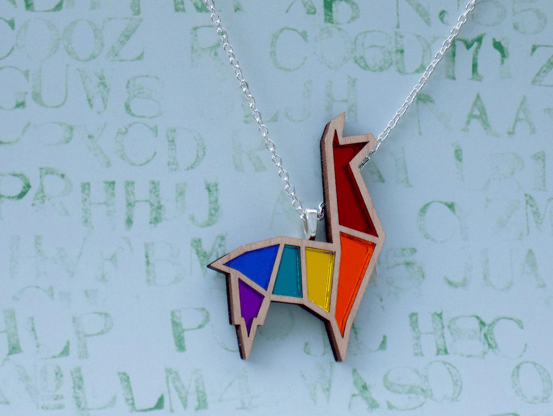 Image of Rainbow Pride Alpaca Necklace