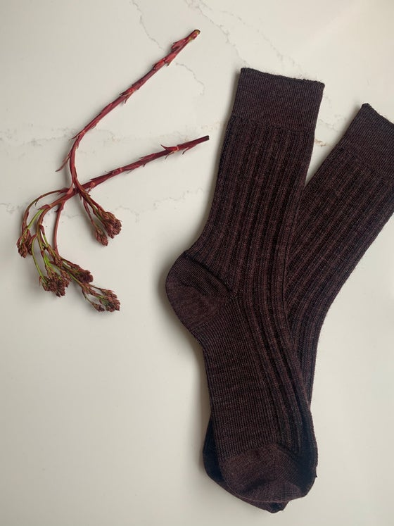 Image of Fathers Day - Soft Merino Railway Socks