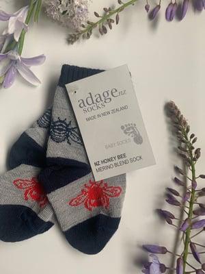 Image of Soft Merino Kids & Baby Bumblebee Socks
