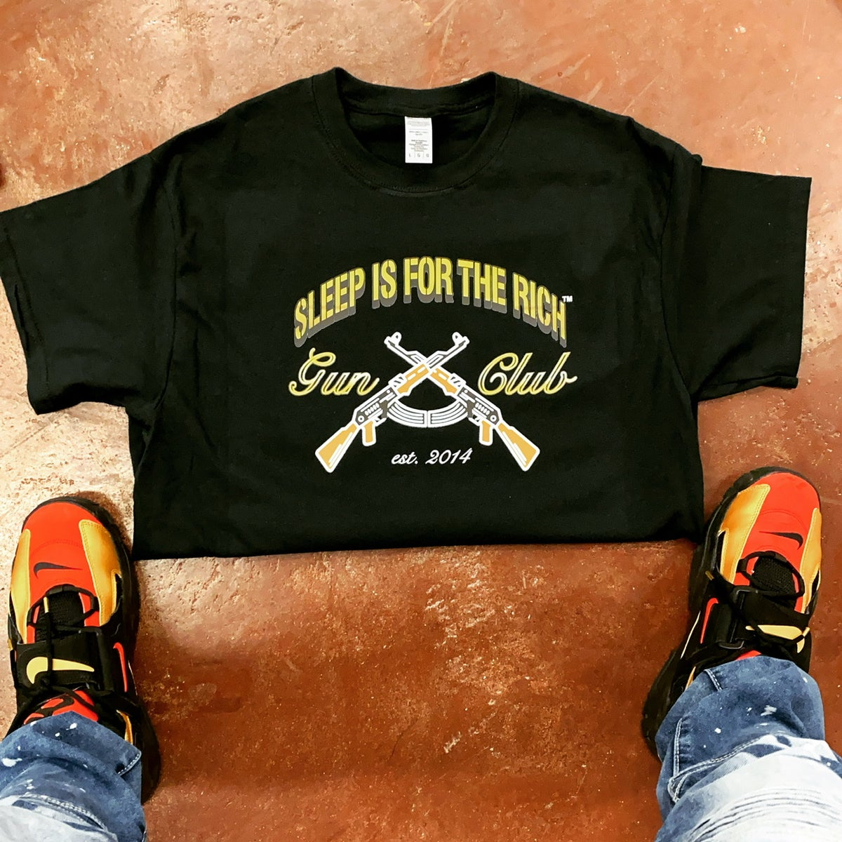 """Image of (Black) """"OFFICIAL"""" Sleep is For The Rich Gun Club"""" Tee"""