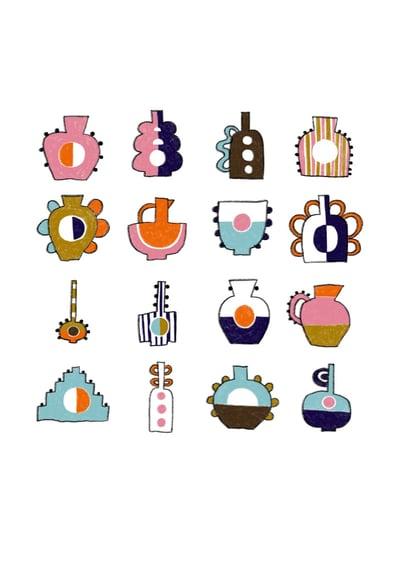 Image of Keramiksamling - Giclée kunstprint