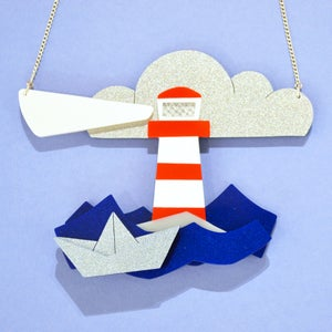 Image of Stripey Lighthouse Necklace