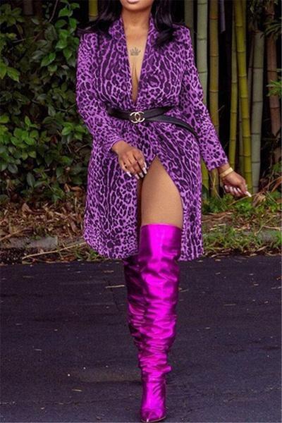 Image of Leopard Blazer Coat