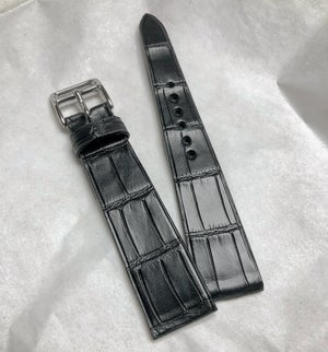Image of Black matte Alligator Classic watch strap