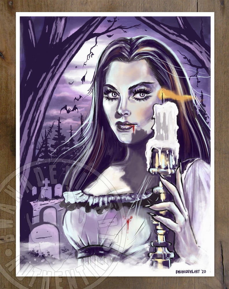 Image of Lily Munster (The Munsters) art print 9x12 in.