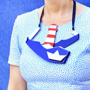 Image of XL Lighthouse Statement Necklace
