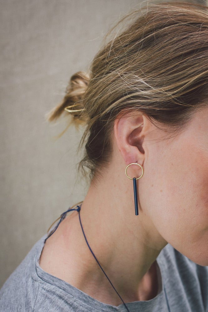 Image of New limited edition powder coated earrings