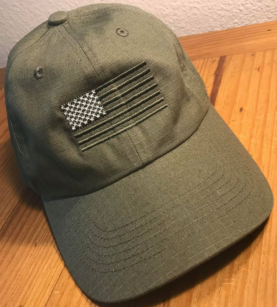 Image of SUBDUED GREEN LINE FLAG HATS