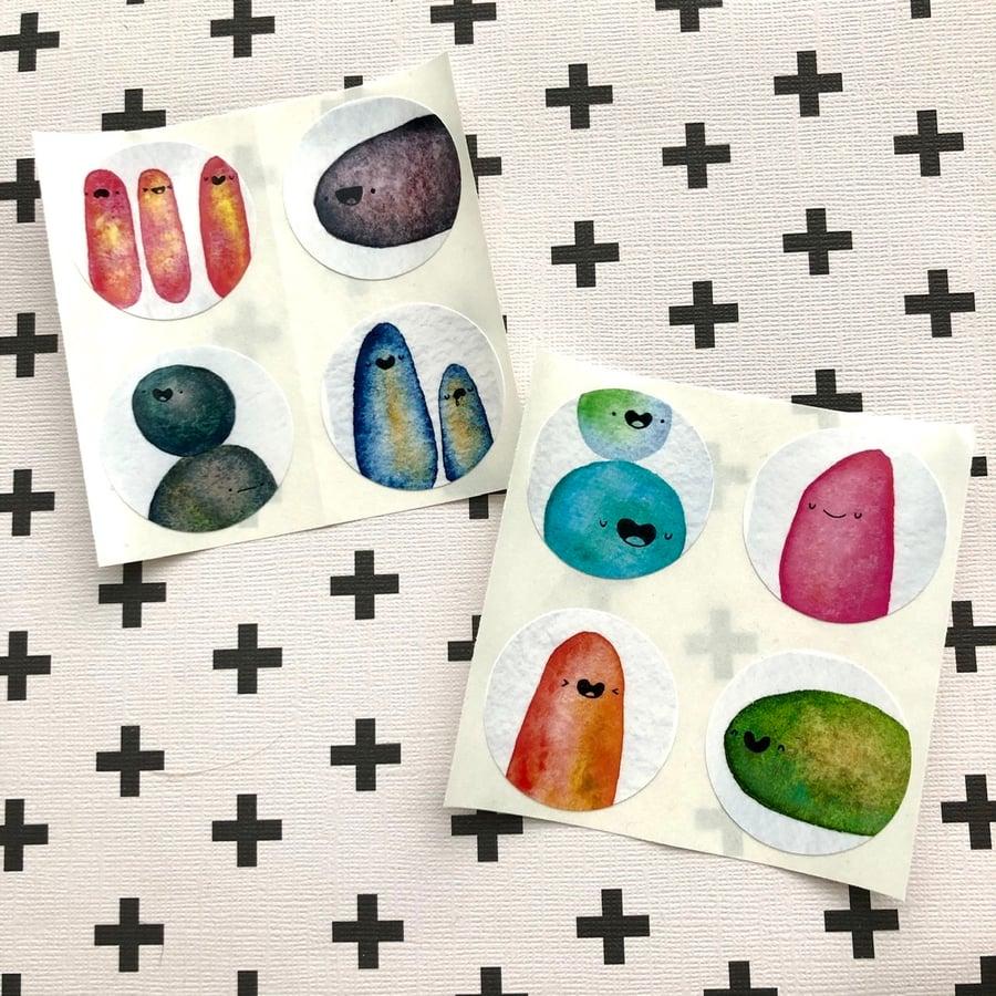 Image of lumpy friends sticker pack, volume 2 — SECONDS