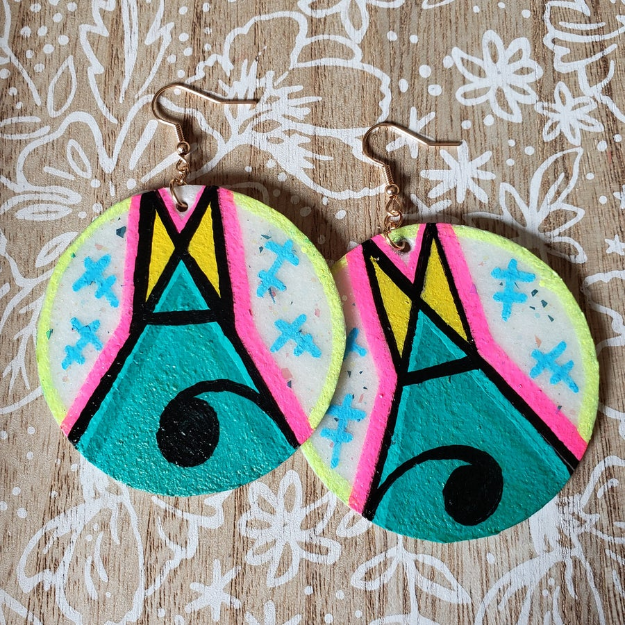 Image of Tipi earrings- turquoise