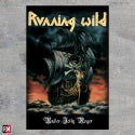 Running Wild Under Jolly Roger poster flag