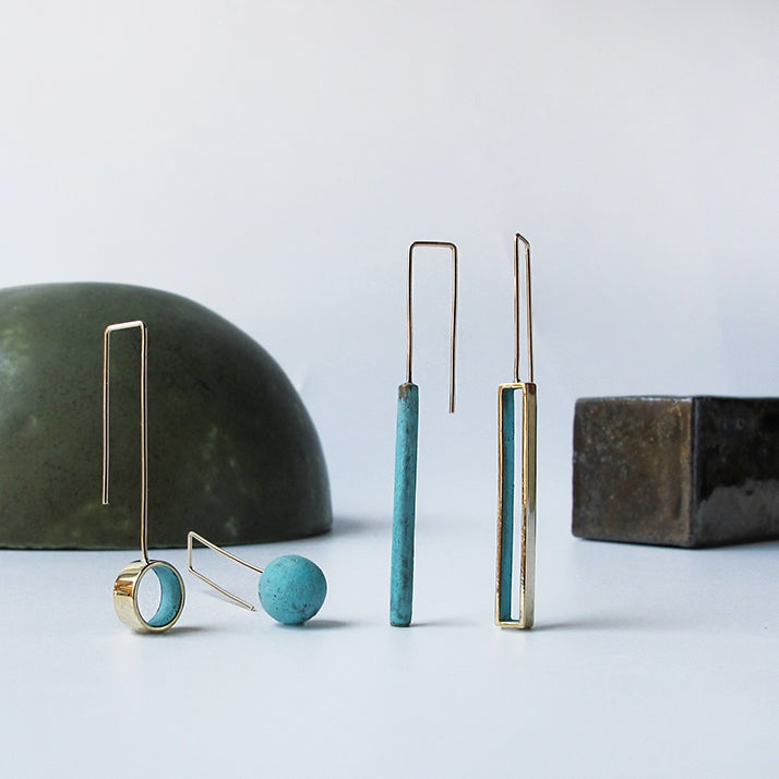 Image of Brass / Patina Small Shapes
