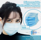 Image of Adult & Kids 3-Layer Disposable Protective Face Masks (10ct.-50 ct.)